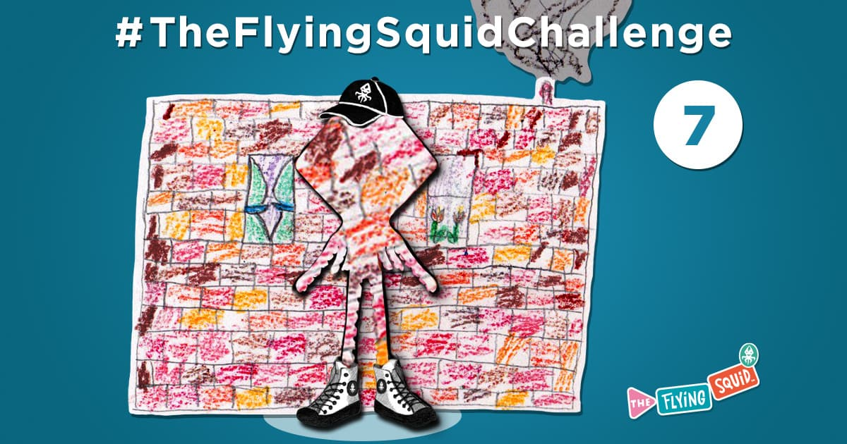 The Flying Squid is playing fun activities to do with kids, in this case a game Camouflage Me!