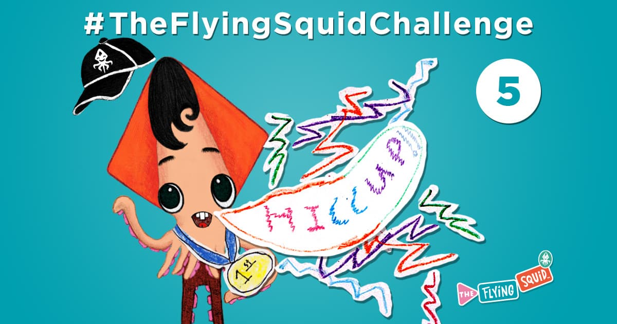 The flying Squid is playing fun activities to do with kids, in this case a game called Hiccup Olimpiad