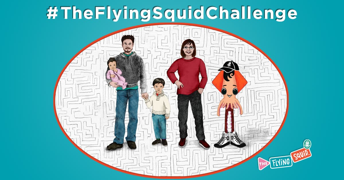 The flying Squid Team presents the Flying Squid challenge