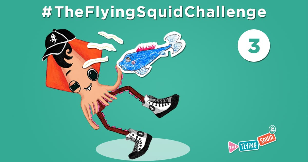 The flying Squid is practicing fun activities to do with kids, in this case a game called Whats that smell?
