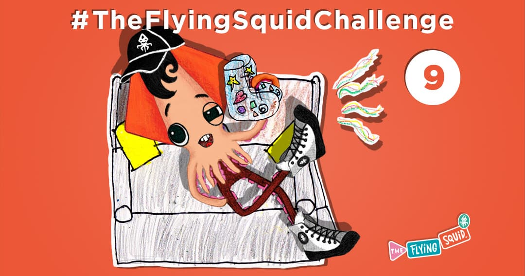 The Flying Squid is playing fun activities to do with kids, in this case a game called Bizarre Phone