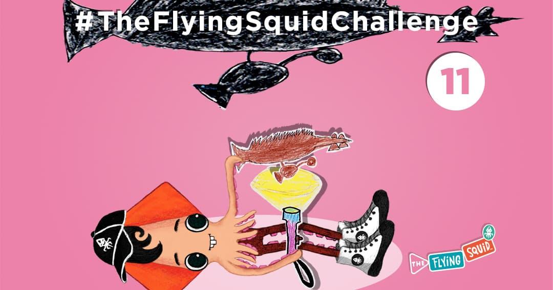 The Flying Squid is playing fun activities to do with kids, in this case a game called Shadow Puppet