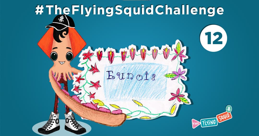 The Flying Squid is playing fun activities to do with kids, in this case a game called Precious Word