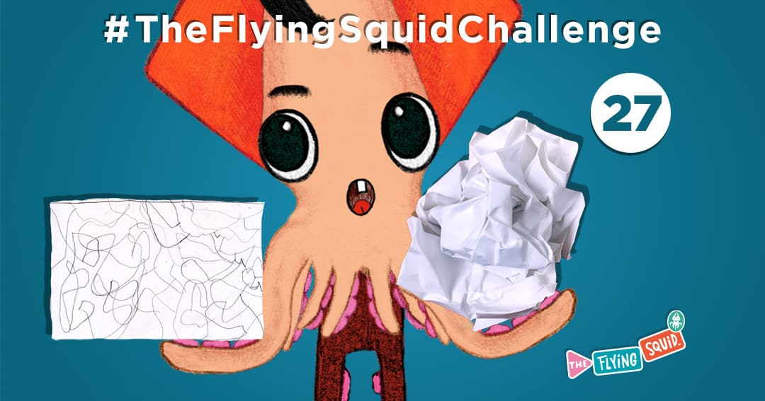The Flying Squid is playing fun activities to do with kids, in this case playing a game called the Impossible Fold