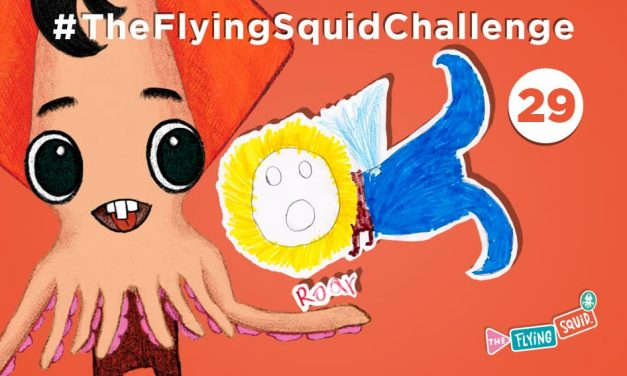 Join the Flying Squid for a Half-Drawing Experiment!
