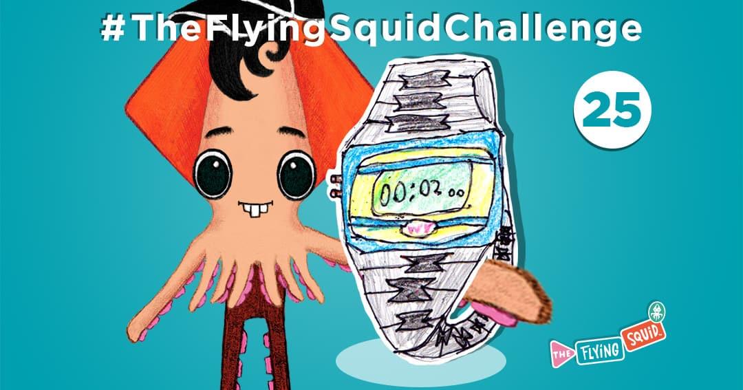 El Calamar Volador y sus actividades para niños, en este caso olimpiada de dos minutos