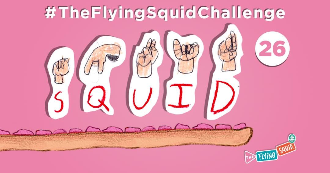 El Calamar Volador y sus actividades para niños, en este caso aprendiendo lenguaje de signos