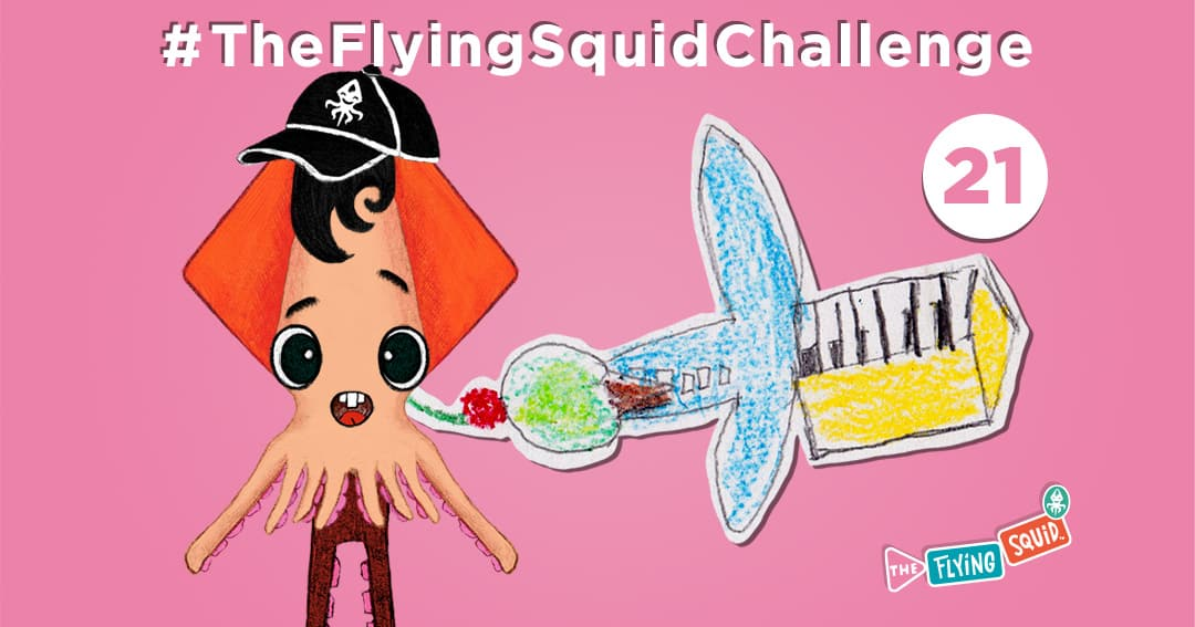 The Flying Squid is playing fun activities to do with kids, in this case playing a game called Mixed-Up Images