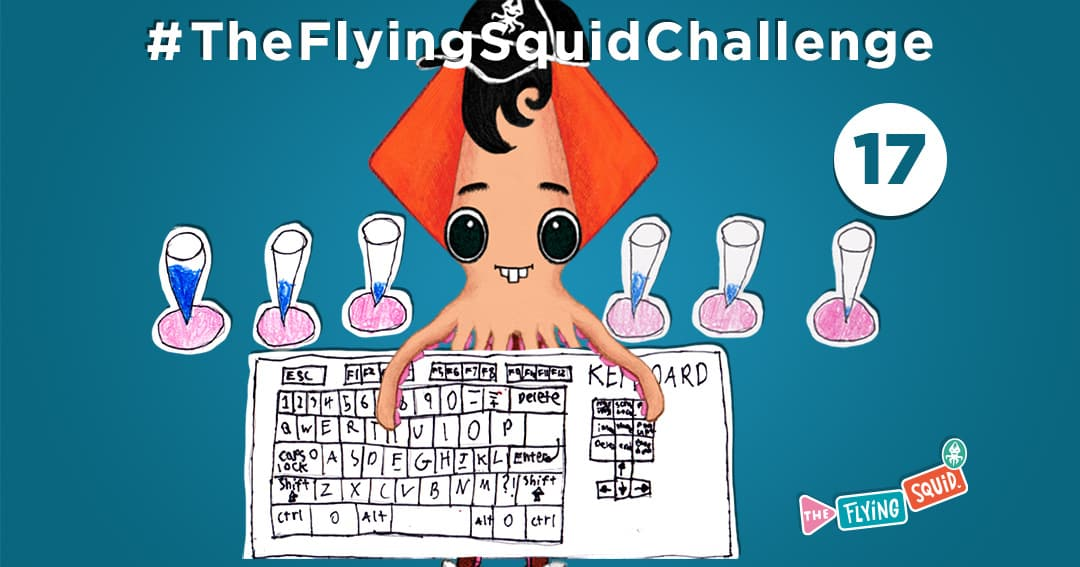 The Flying Squid is playing fun activities to do with kids, in this case making music with household objects