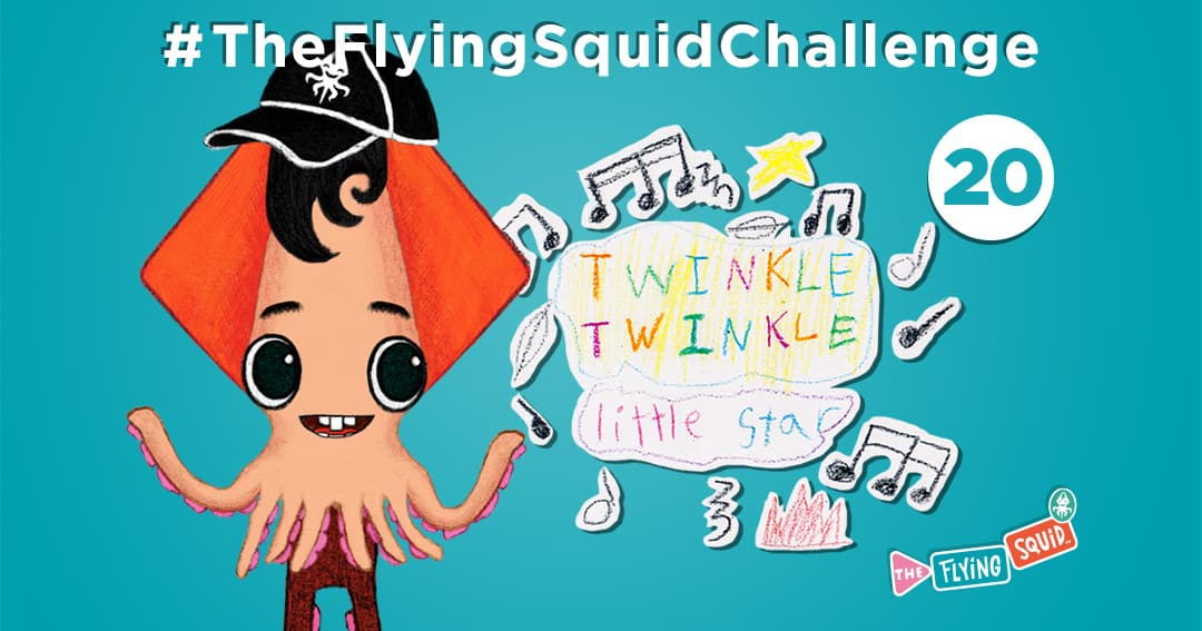 The Flying Squid is playing fun activities to do with kids, in this case playing swap songs!