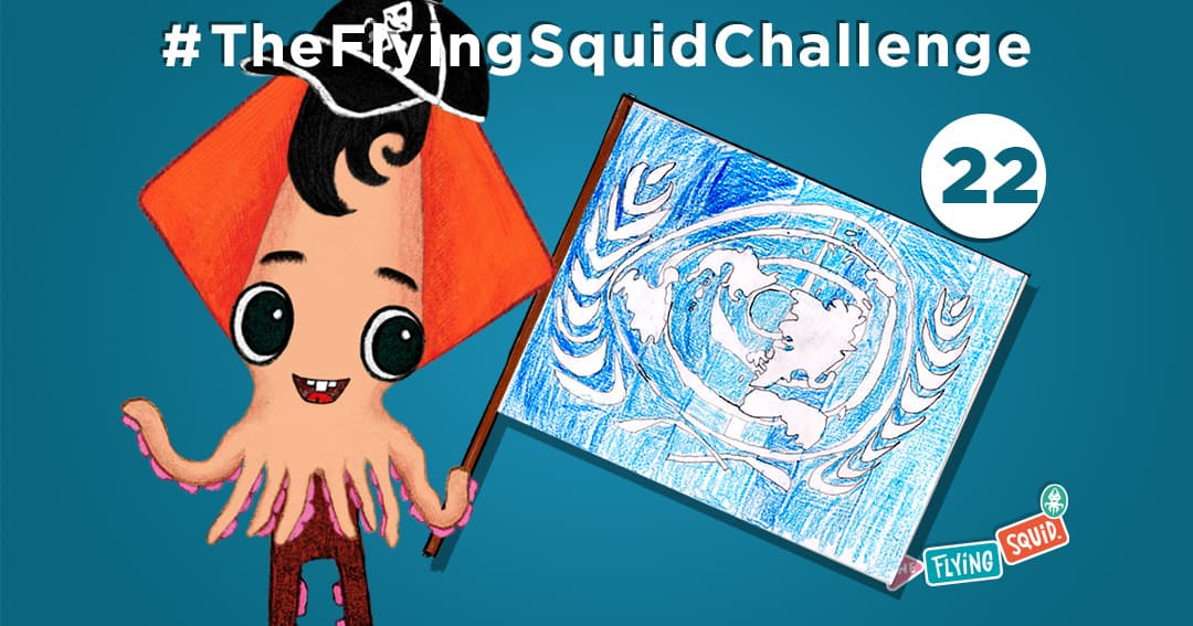 The Flying Squid is playing fun activities to do with kids, in this case playing a game called the UN