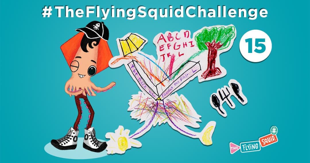 The Flying Squid is playing fun activities to do with kids, in this case playing a game called Consecutive Story